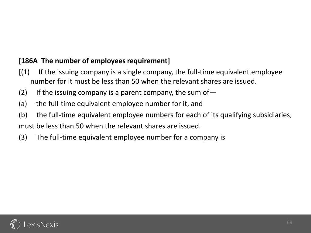 [186A  The number of employees requirement]