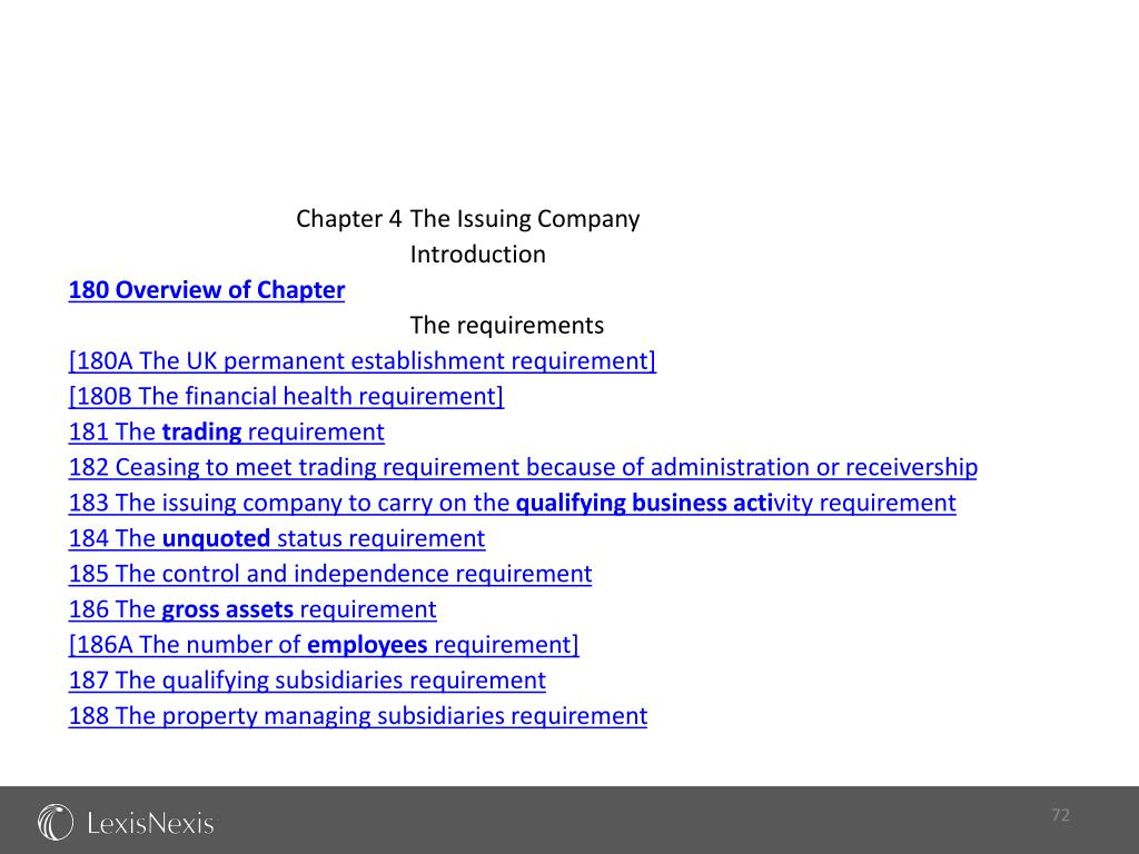Chapter 4 	The Issuing Company