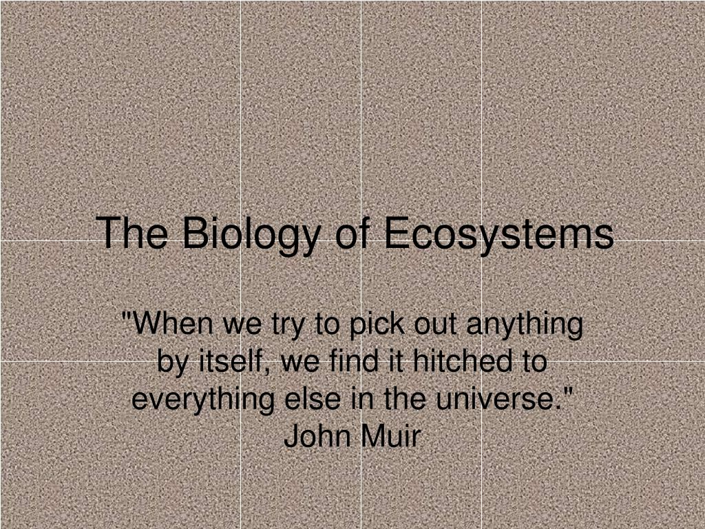 the biology of ecosystems l.