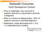 telehealth outcomes youth development centers