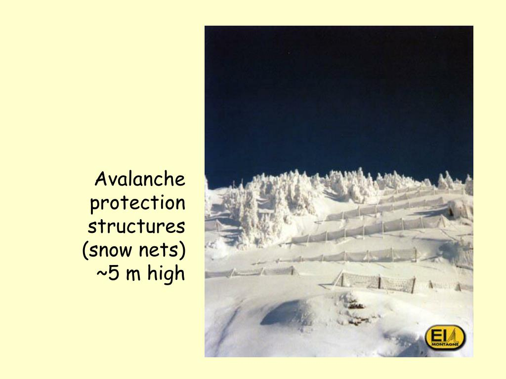Avalanche protection structures