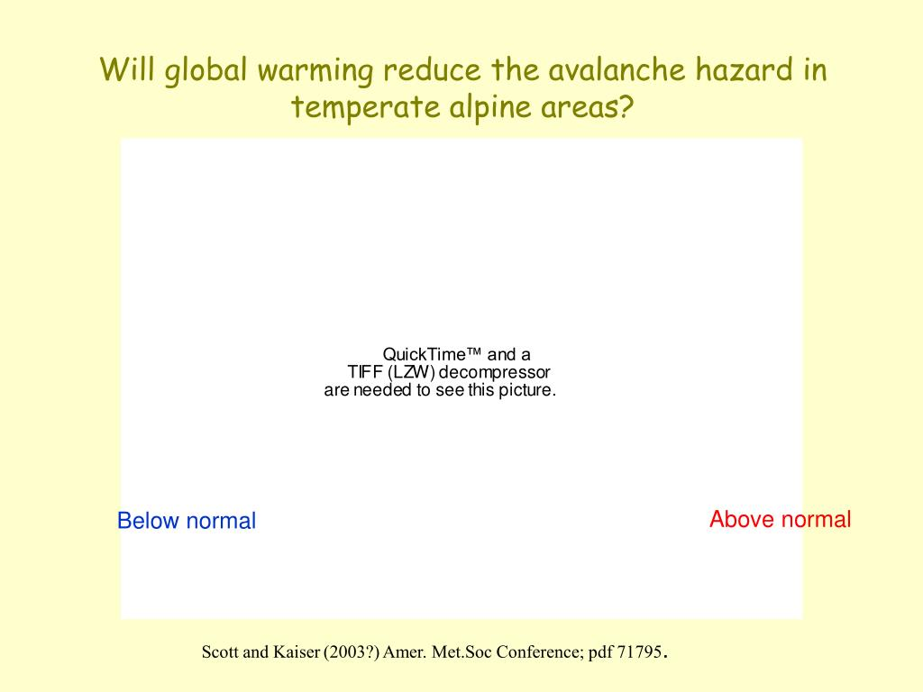Will global warming reduce the avalanche hazard in temperate alpine areas?