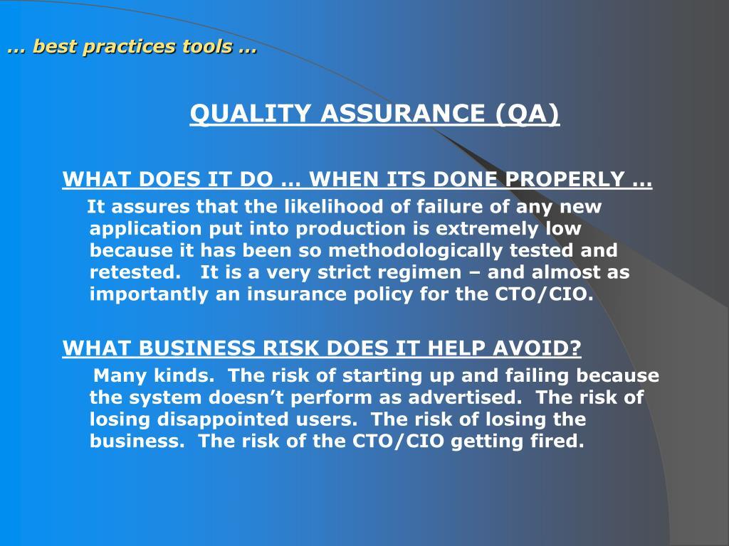 … best practices tools …