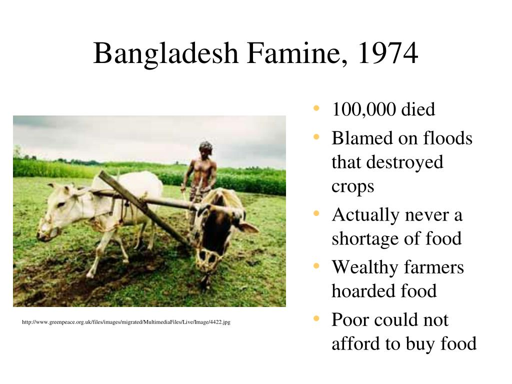 Bangladesh Famine, 1974