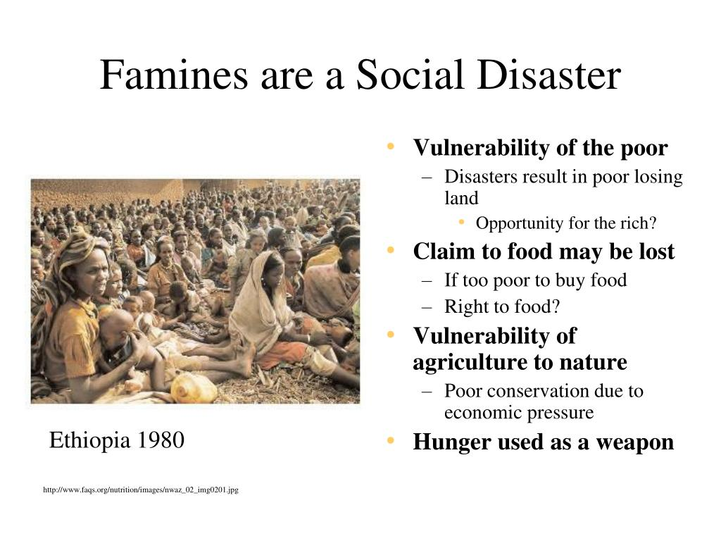 Famines are a Social Disaster