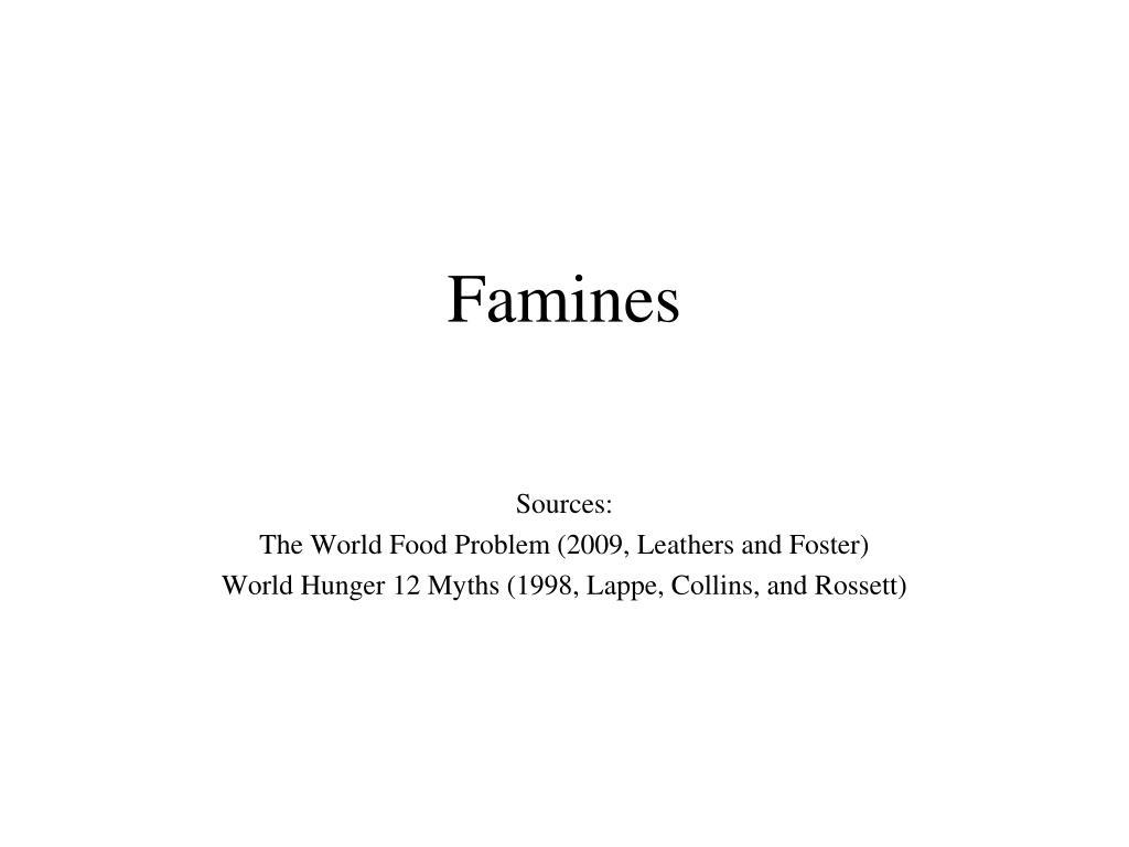 Famines