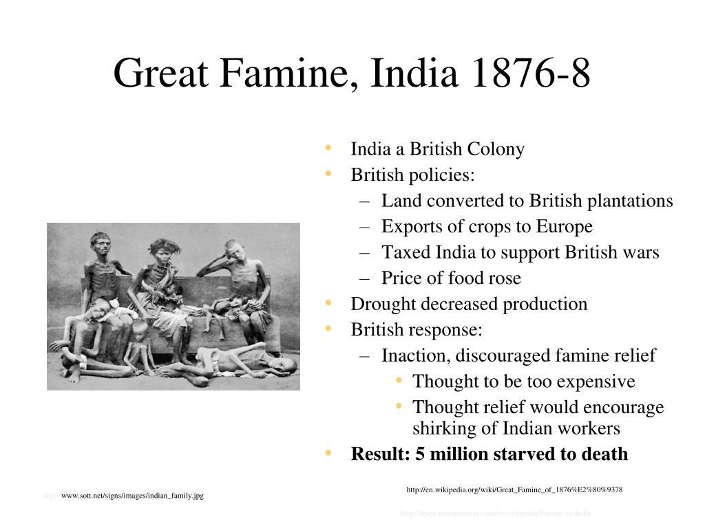 Great Famine, India 1876-8