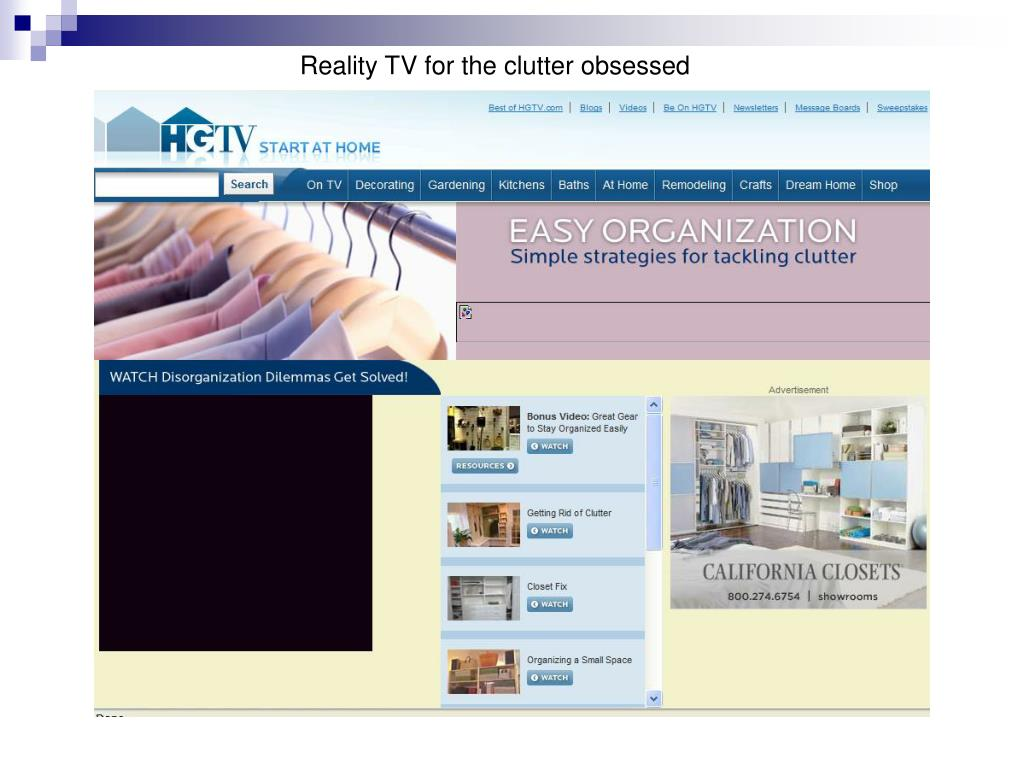 Reality TV for the clutter obsessed
