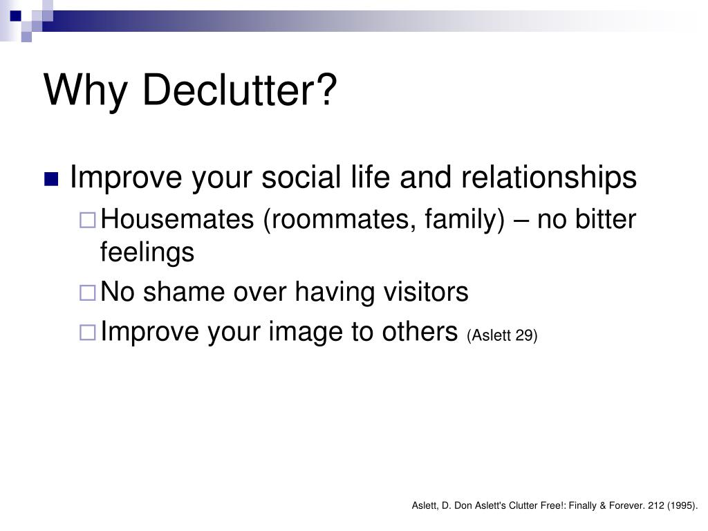 Why Declutter?