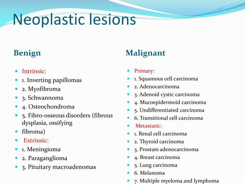 Neoplastic lesions