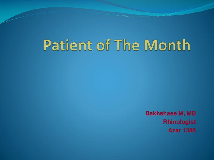 patient of the month n.