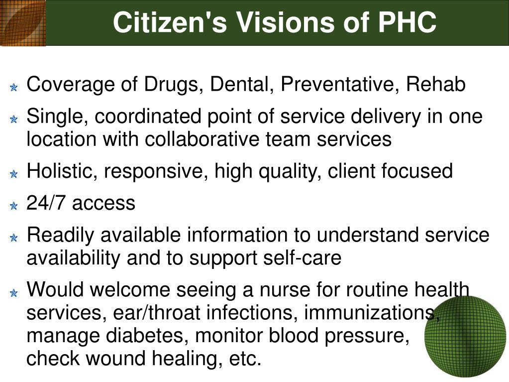 Citizen's Visions of PHC