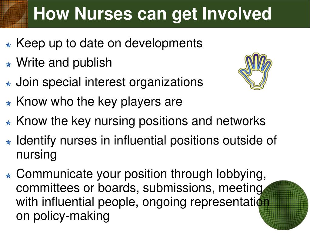 How Nurses can get Involved