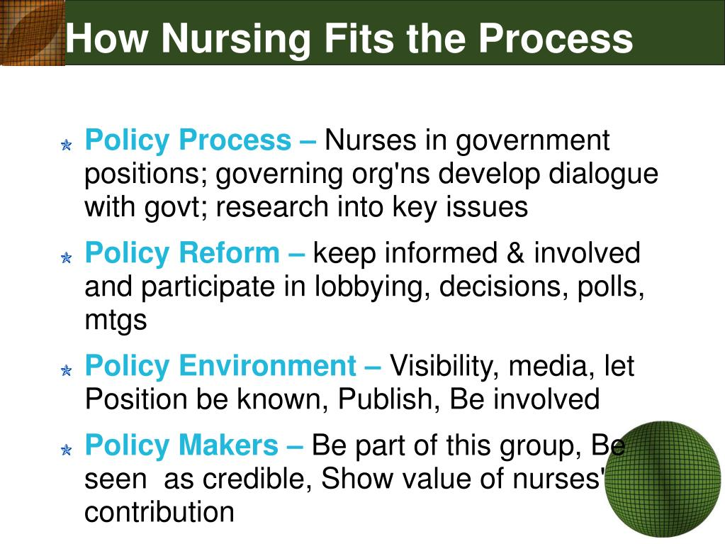 How Nursing Fits the Process