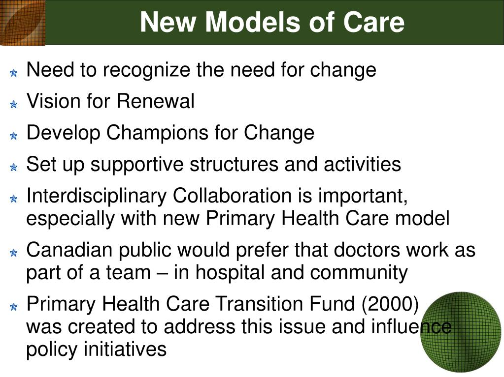 New Models of Care