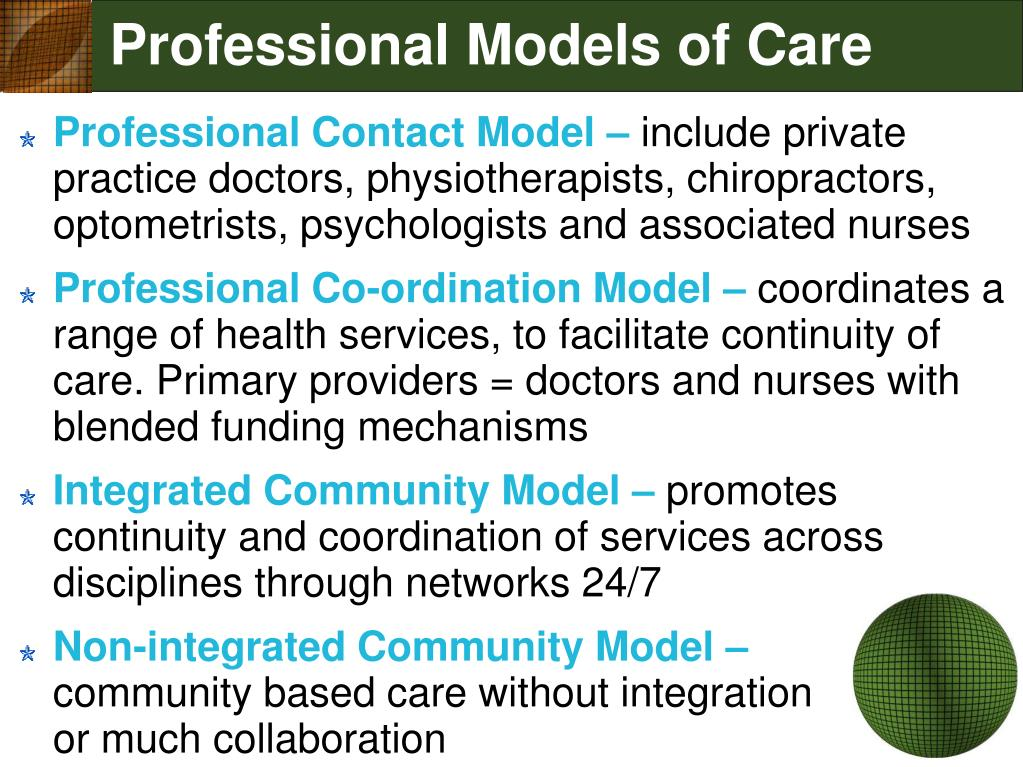 Professional Models of Care