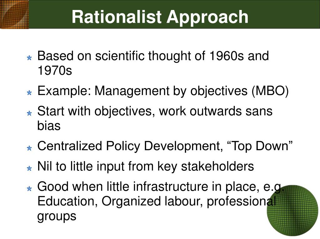 Rationalist Approach