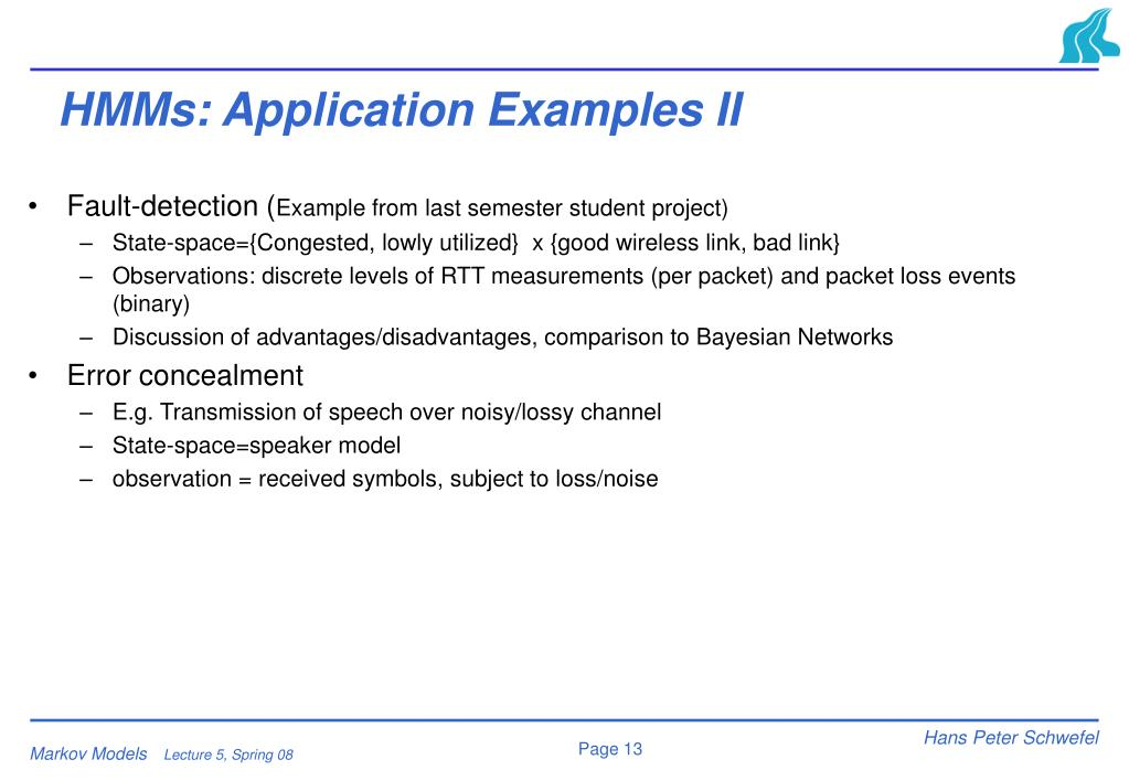 HMMs: Application Examples II