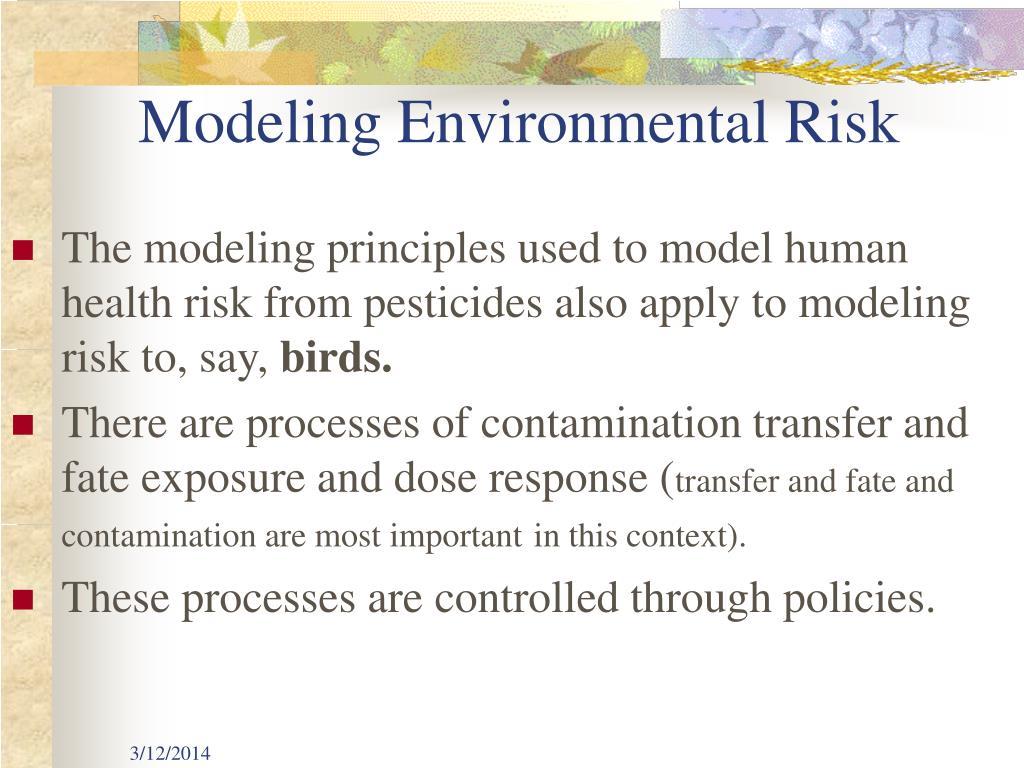 Modeling Environmental Risk