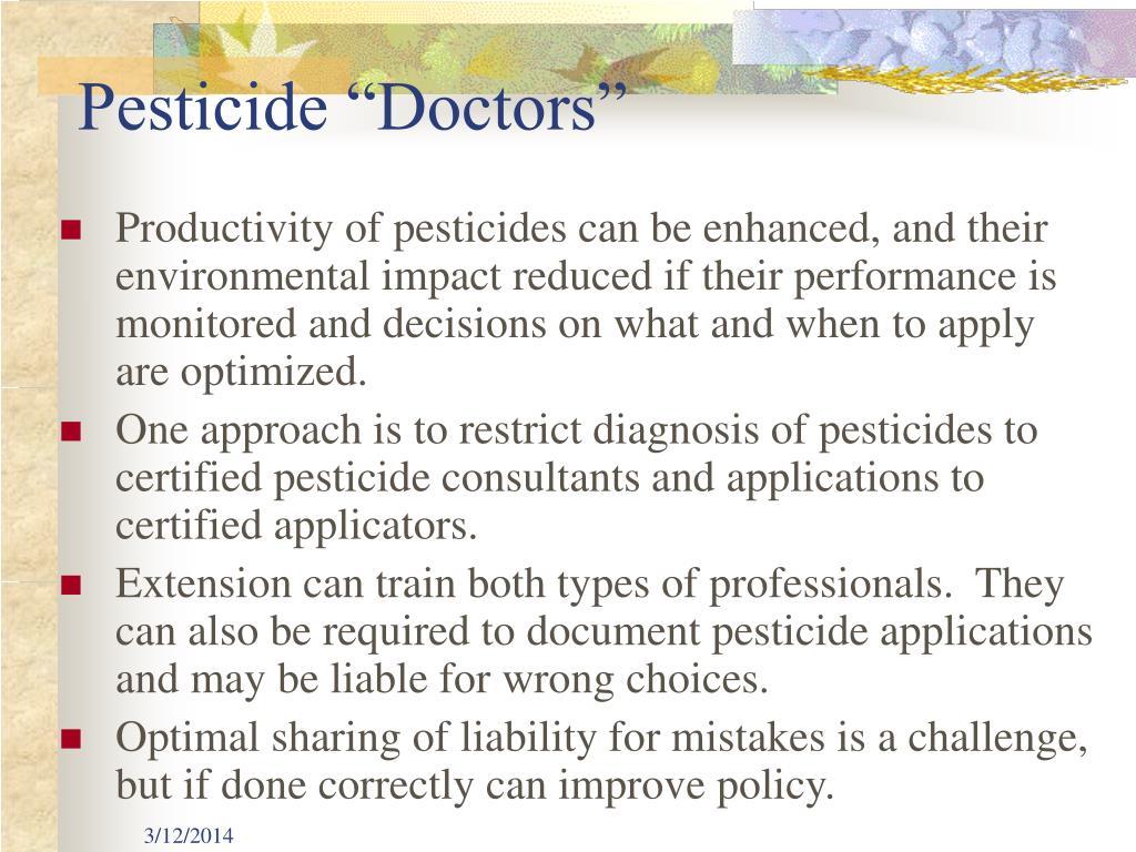 """Pesticide """"Doctors"""""""