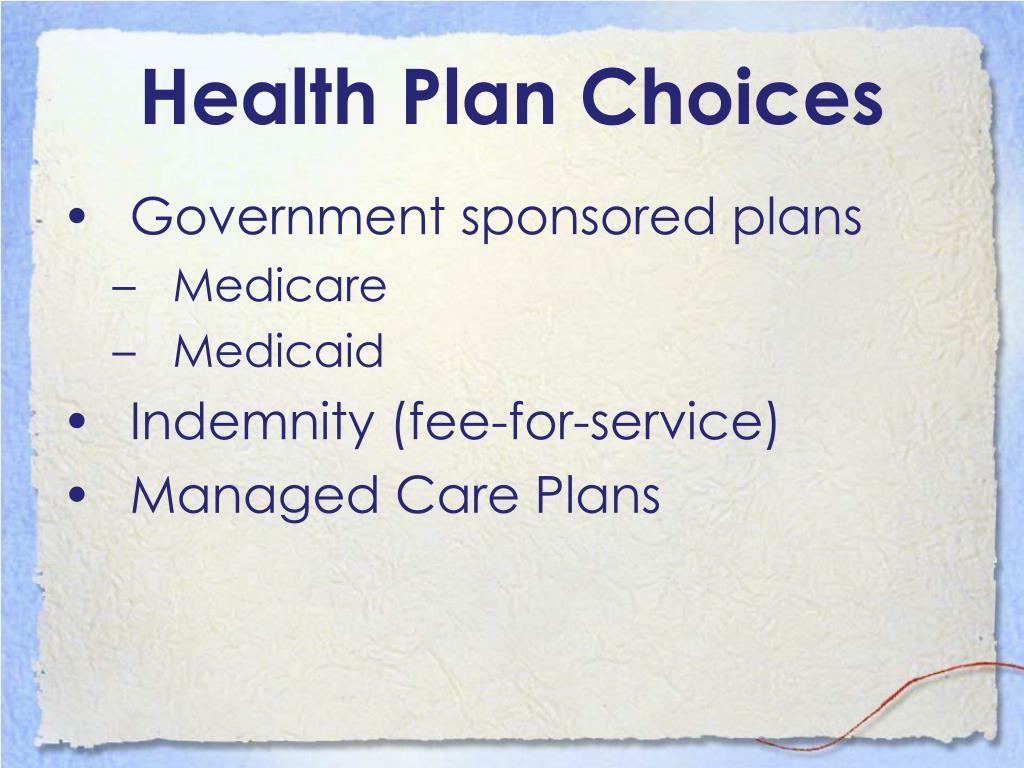 Health Plan Choices