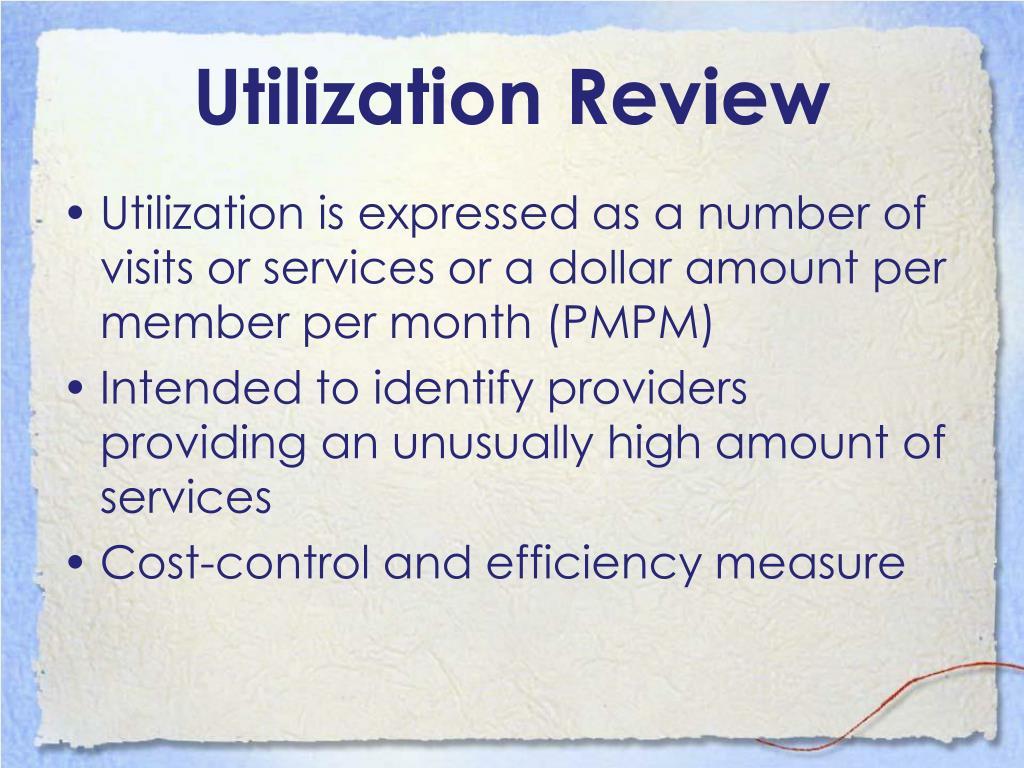 Utilization Review