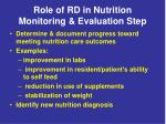 role of rd in nutrition monitoring evaluation step