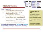 attribute ordering