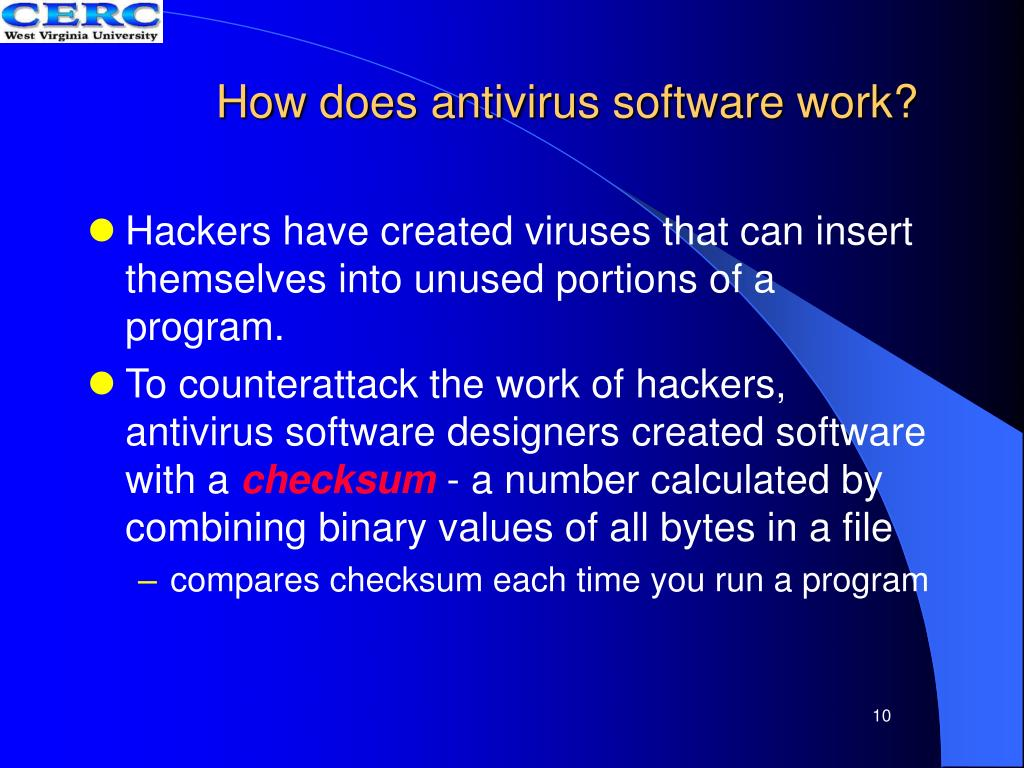 How does antivirus software work?