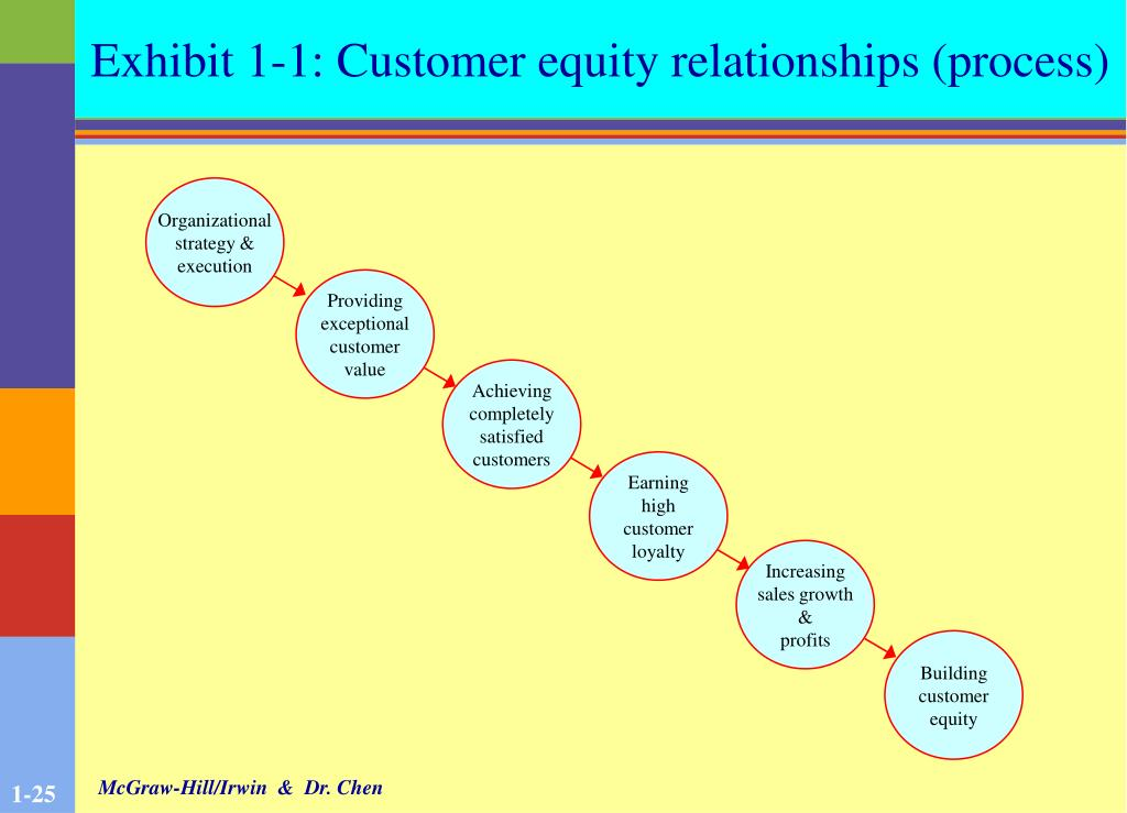 Exhibit 1-1: Customer equity relationships (process)