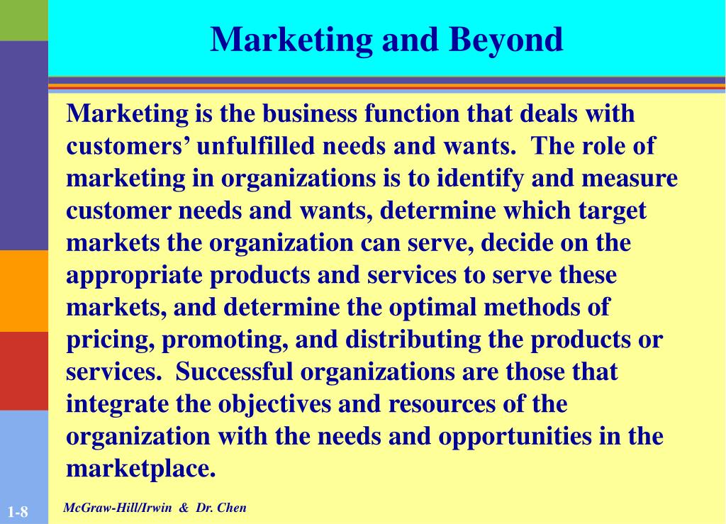Marketing and Beyond