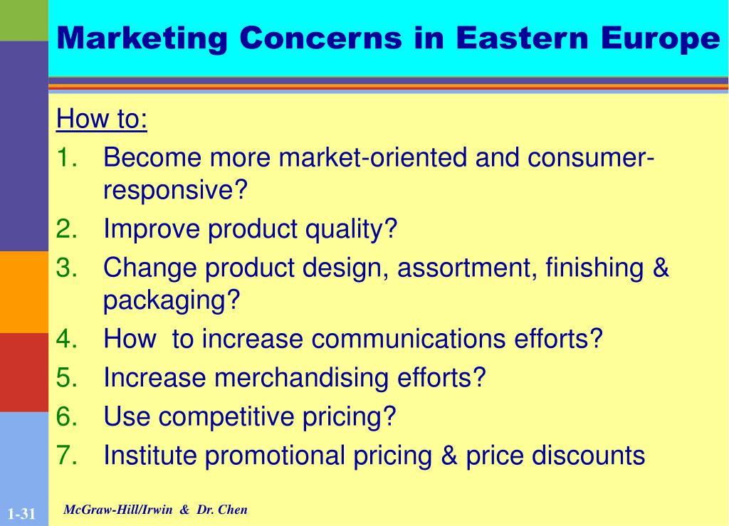 Marketing Concerns in Eastern Europe
