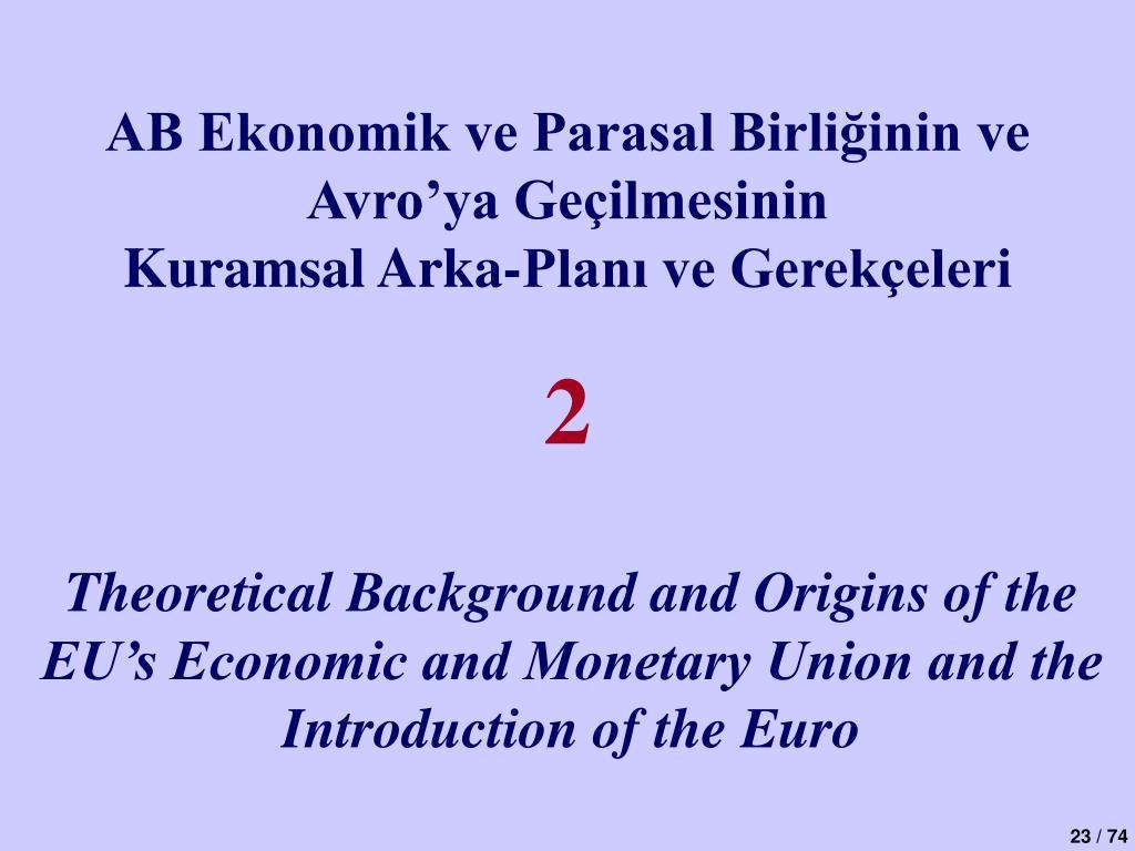 AB Ekonomik ve Parasal Birliğinin ve