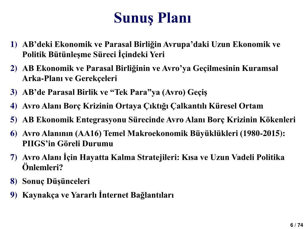Sunuş Planı