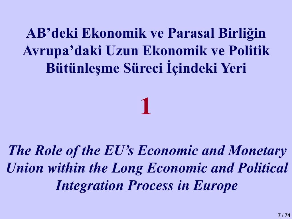 AB'deki Ekonomik ve Parasal Birliğin