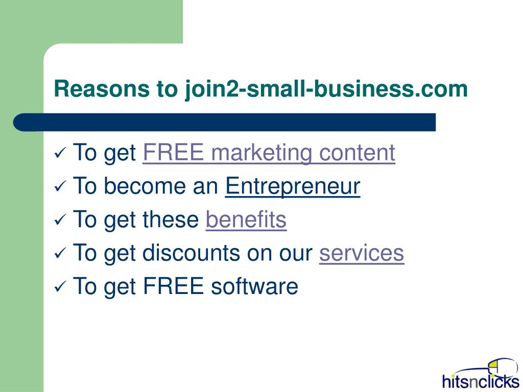 Reasons to join2-small-business.com
