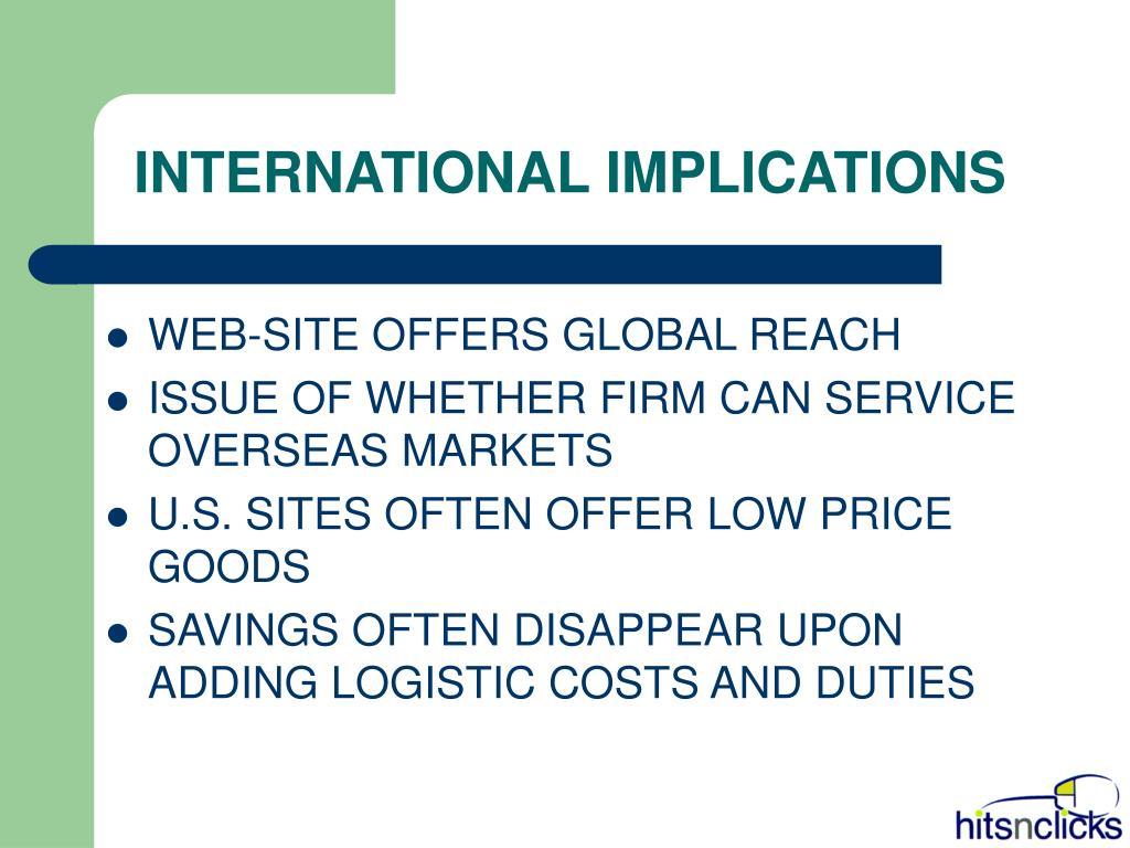 INTERNATIONAL IMPLICATIONS