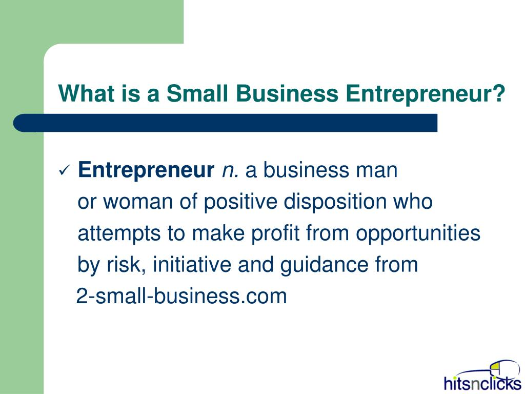 What is a Small Business Entrepreneur?