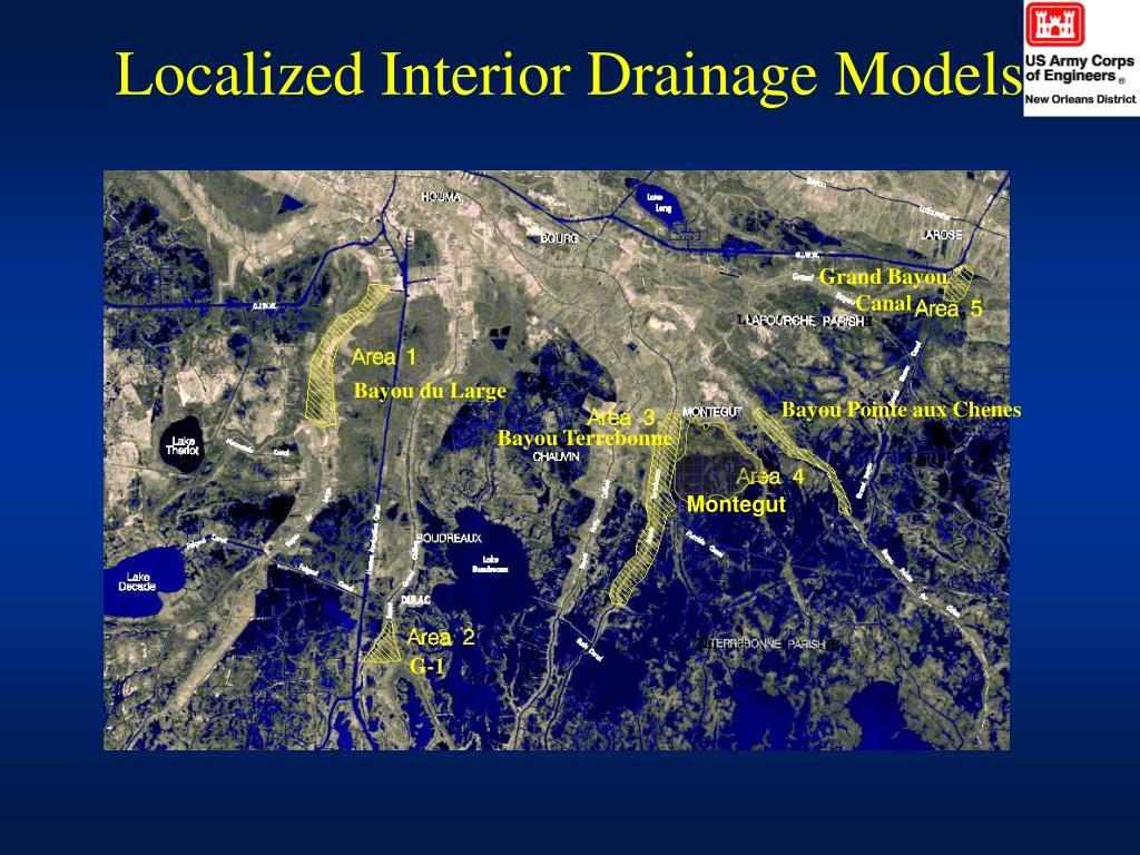 Localized Interior Drainage Models