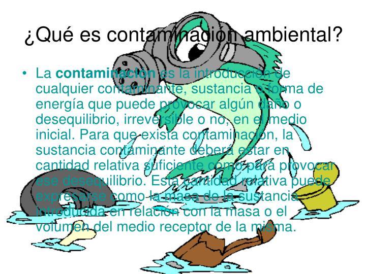 Qu es contaminaci n ambiental