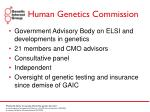 human genetics commission