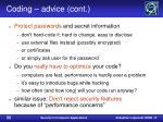 coding advice cont32