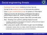 social engineering threats