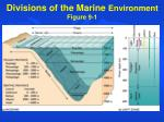 divisions of the marine environment figure 9 1