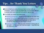 tips for thank you letters