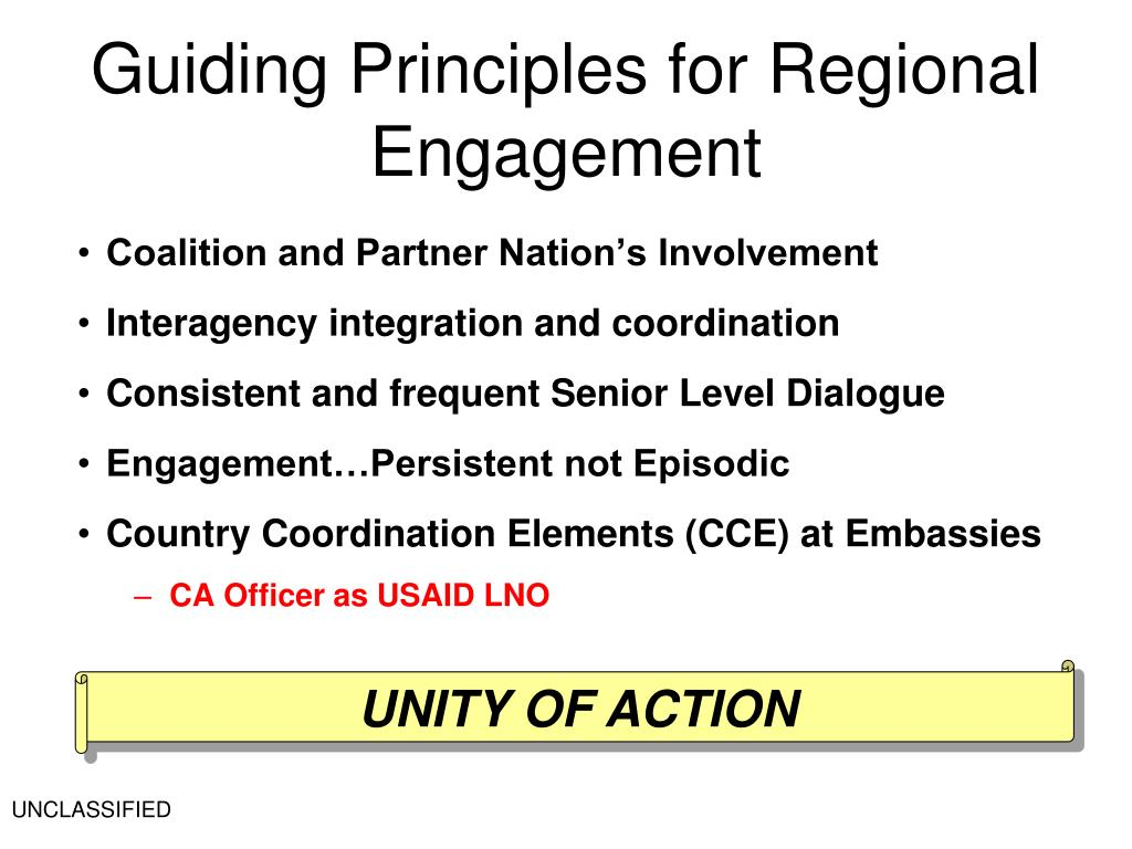Guiding Principles for Regional Engagement