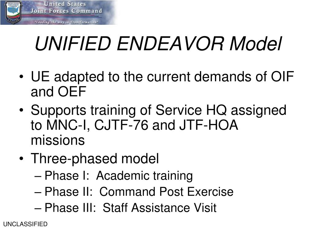 UNIFIED ENDEAVOR Model