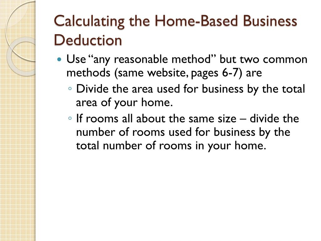 Calculating the Home-Based Business Deduction