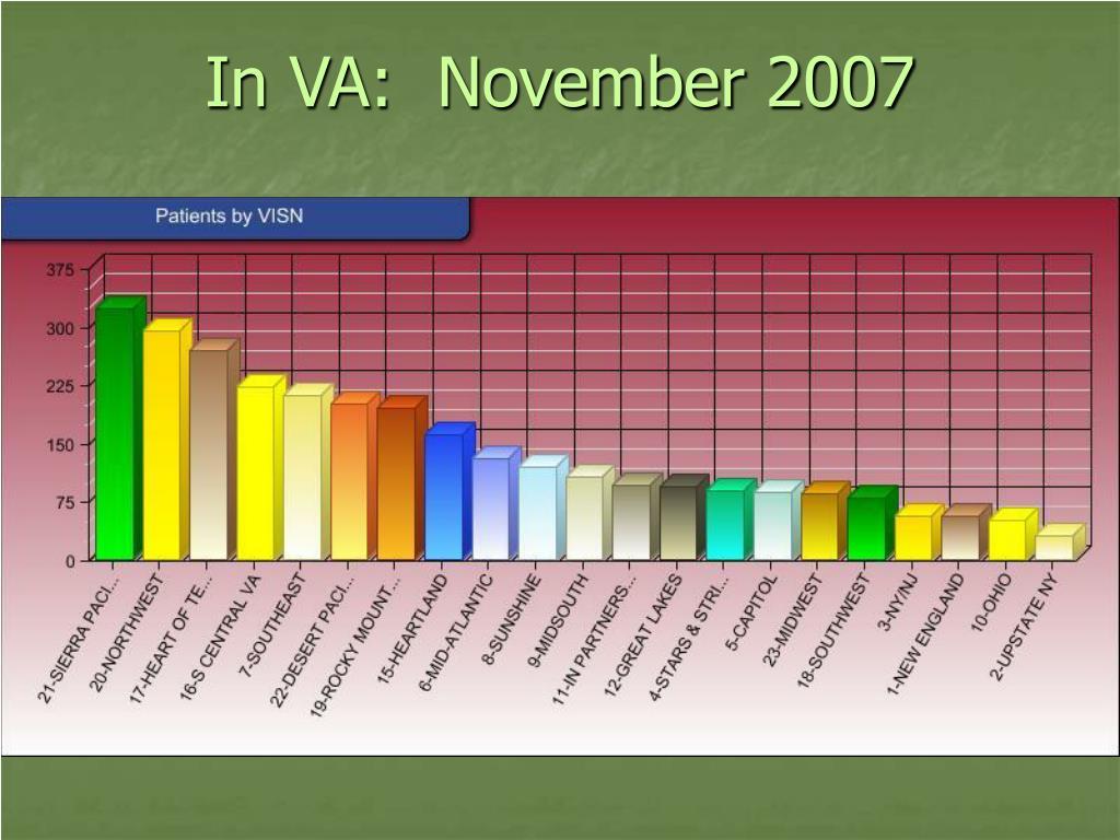 In VA:  November 2007