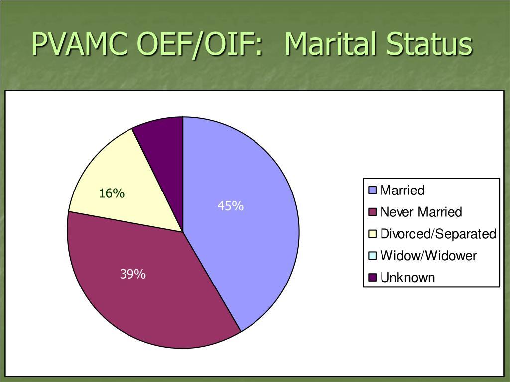 PVAMC OEF/OIF:  Marital Status